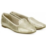 Clarks Chia Milly Champagne Bellies For Women(Gold)