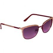 Zyaden Pink UV Protection Rectangular Women Sunglass
