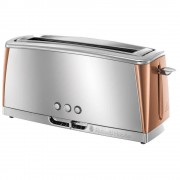 Russell Hobbs 24310 Luna Copper 2 Slice Toaster - Stainless Steel