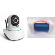 Zemini Wifi CCTV Camera and Mini Xtreme K5 Plus Bluetooth Speaker for LG OPTIMUS L9 II(Wifi CCTV Camera with night vision |Mini Xtreme K5 + Bluetooth Speaker)