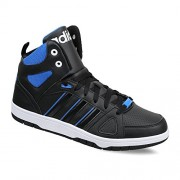 adidas neo Men's Hoops Team Mid Cblack and Blue Sneakers - 8 UK/India (42 EU)