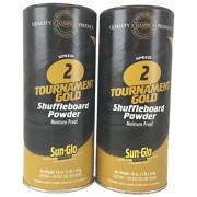 Twin Pack of Sun-Glo #2 Speed Shuffleboard Powder Wax