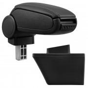 Středová loketní opěrka - vhodná pro: Opel Meriva A (Rok výroby 2003–2010) - umělá kůže - Černá s černými švy