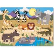 Puzzle din lemn Animalele safari
