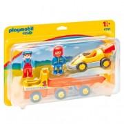 Playmobil 1.2.3 - Coche de Carreras con Camión - 6761