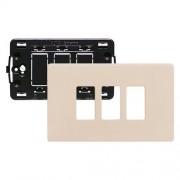 Bticino Supporto E Placca 3 Moduli Per Scatole Rettangolari Magic Avorio S503/13Rs