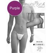 Icker Sea Solid Micro G String Underwear Purple COI-12-146
