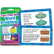 Trend Enterprises T24014 Test Prep Math Word Problems, Grades 4-6, Challenge Cards, 0.75' Height, 3.37' Width,...
