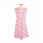 New York & Company Casual Dress - A-Line: Pink Floral Dresses - Used - Size Small