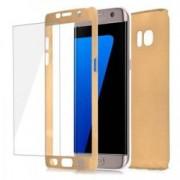 Husa protectie pentru Samsung Galaxy S7 Edge Auriu Fullbody fata-spate folie de protectie gratis