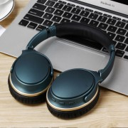 LC9300 Foldable Over-ear Wireless Bluetooth 4.1 Earphone Headset Support NFC Pairing for iPhone Samsung - Blue