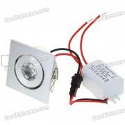 1W 100 lumen 6500K blanco LED lampara de techo / luz de abajo con LED controlador (AC 86 ~ 265V)