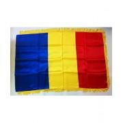 Steag tricolor Romania 135x90cm cu franjuri