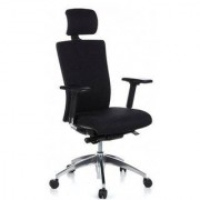 Hjh Sedia ergonomica ALVIN PRO, sostegno lombare, regolabile 100%, nera