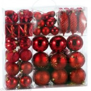 Sada červených vánočních baněk 103ks