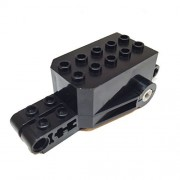 Parts/Elements - Motors Lego Parts: Pullback Motor 9 x 4 x 2 1/3 with Black Base - Black Top White Axle Holes Studs on Front Top Surface