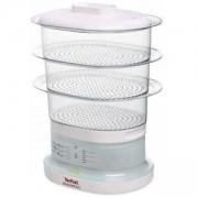 Уред за готвене на пара Tefal - MiniCompact, 6,5 литра, 650W, 3 купи, бял, VC130130