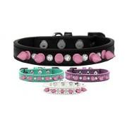 Mirage Pet Products Collar para Perro con púas de Vidrio y Rosa Claro, Talla 12, Lavanda