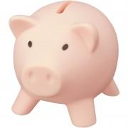 Geen Kunststof varken mini spaarpot lichtroze 9 cm