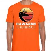 Bellatio Decorations Hawaiian summer shirt beach party / strandfeest outfit / kleding oranje voor heren