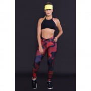 Calça Legging Feminina com Estampada Sublimada Red