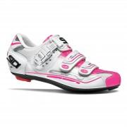 Sidi Women's Genius 7 Road Shoes - White/White/Pink Fluo - EU 40 - White/White/Pink Fluo