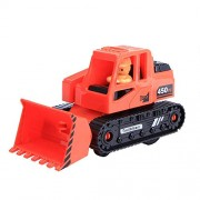 Aobiny Pull Back Vehicles Toy , Xmas Gift ,Vehicle Children Toy Decor Diecast Pull Back Bulldozer Model (Red)