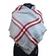 NEW BERRY dámská pletená šála / pléd BC717 světle šedá