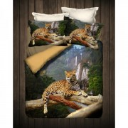 "Спално бельо с 3D мотив ""Leopard"" Ранфорс - 100% Памук"