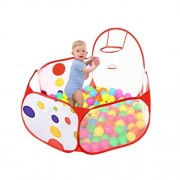 TOYMYTOY 1.5m Kids Ball Pit Play Tent Bounce Playhouse Tent with 100 Ocean Balls for Indoor Outdoor Use
