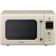 Cuptor cu microunde Daewoo Retro KOR-6LBRC, 800 W, 20 l, Bej