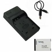 Bateria Ismartdigi Li70B con cargador micro USB para Olympus