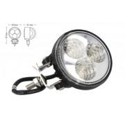 Fanale Rotondo Luci Diurne A Led Work Light Faro Da Lavoro 12V 24V 9W (3X3W) IP67 Bianco