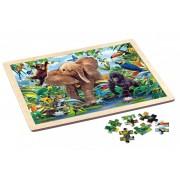 Puzzle in cadru de lemn 48 piese Jungle