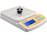 Khargadham SF_400A Digital Electronic Kitchen Weight Machine Capacity 10Kg Multipurpose With Batteries $ Adopter Weighing Scale(OFF_WHITE)