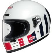 Shoei Glamster Resurrection Helmet Black White Red 2XL