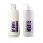Goldwell Dualsenses Blondes & Highlights Anti Yellow Shampoo Conditioner Liter Duo