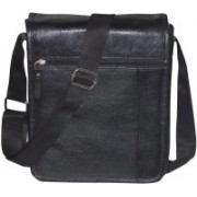 Style 98 Men & Women Black Genuine Leather Hand-held Bag