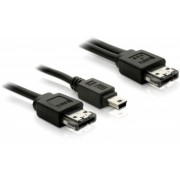 Cablu conexiune ESATA-ESATA+miniUSB 5pini Delock