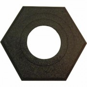 Plasticade Navicade Rubber Base - 16-Lb., For Use With Navicade Channelizer, Model 650-RB-16, Black