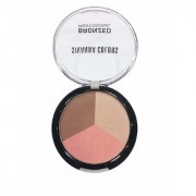 Sivanna 3 Multi-Shade Shimmer Face Pressed Powder Bronzer Deep 4 gm