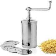 AVSAR Stainless Steel Kitchen Press / Sew Maker / Farsan Sev Maker With 6 Stainless Steel Jalis