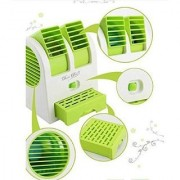 Mini USB Fragrance Air Conditioner Cooling Fan Cooling Portable Desktop Dual Bladeless Air Cooler