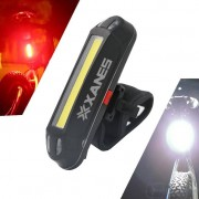 Meco XANES 2 in 1 500LM Bicycle USB Rechargeable LED Bike Front Light Taillight Ultralight Warning Night Light