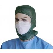Vincal Cappello monouso integrale in TNT con lacci - Colore Verde - Cf da 100 pz