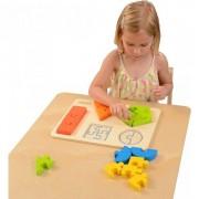 Puzzle din lemn pentru copii de învățare forme geometrice Figurile Masterkidz