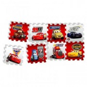 Covor Puzzle din Spuma Happy Children 8 piese - Cars Race