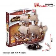 Cubicfun Corabia Mayflower Puzzle 3D 111 piese