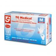 Manusi medicale de unica folosinta din latex TopGlove Disposable Latex Examination Gloves, Ambidextre, 200 bucati, Alb