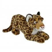 Merkloos Pluche bruine jaguar/luipaard knuffel 50 cm speelgoed